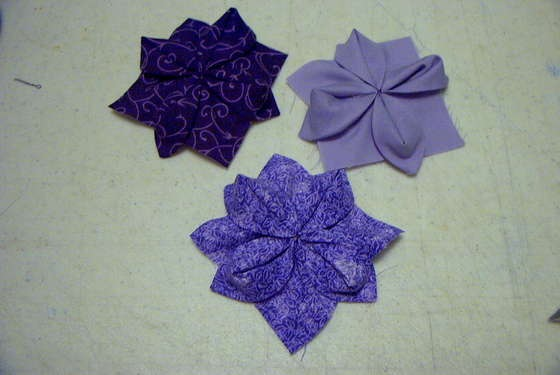 Vaughanville s fabric origami flowers on instructables