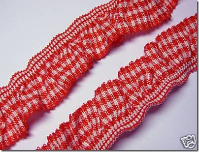 Gingham_elastic_Trim_red