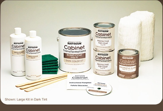 Diva s rust oleum cabinet transformation the domestic for Best primer for painting kitchen cabinets